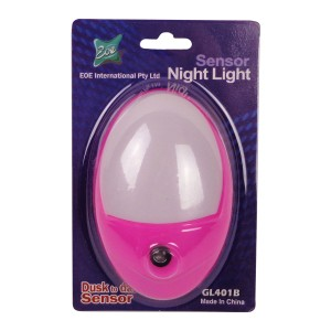 LED Sensor Night Light Hot Pink 0.5W